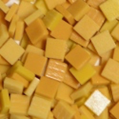 Assorted - Dark Yellows - Matte, 12mm Assortments tile - Kismet Mosaic - mosaic supplies