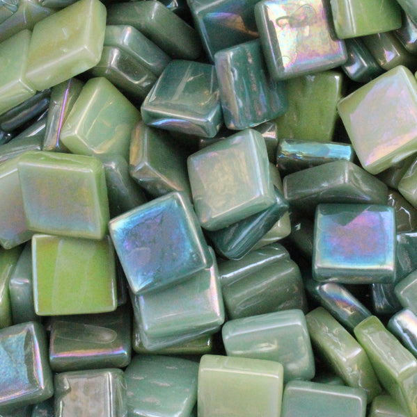 Assorted - Greens - Iridescent, 12mm Assortments tile - Kismet Mosaic - mosaic supplies
