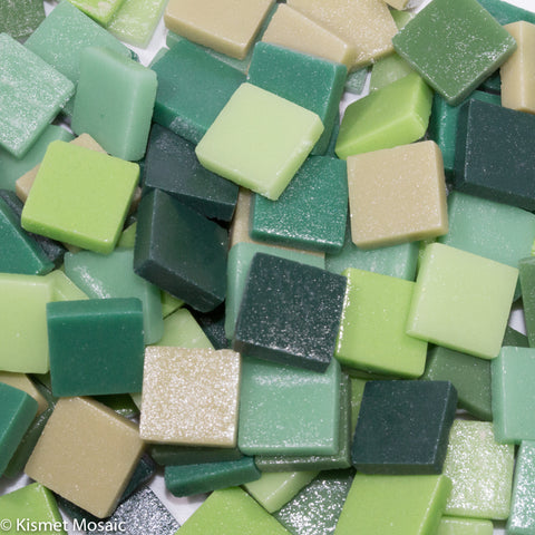 Assorted - Greens - Matte