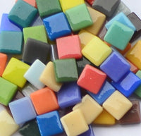 Assorted Colors - Gloss, 12mm Assortments tile - Kismet Mosaic - mosaic supplies