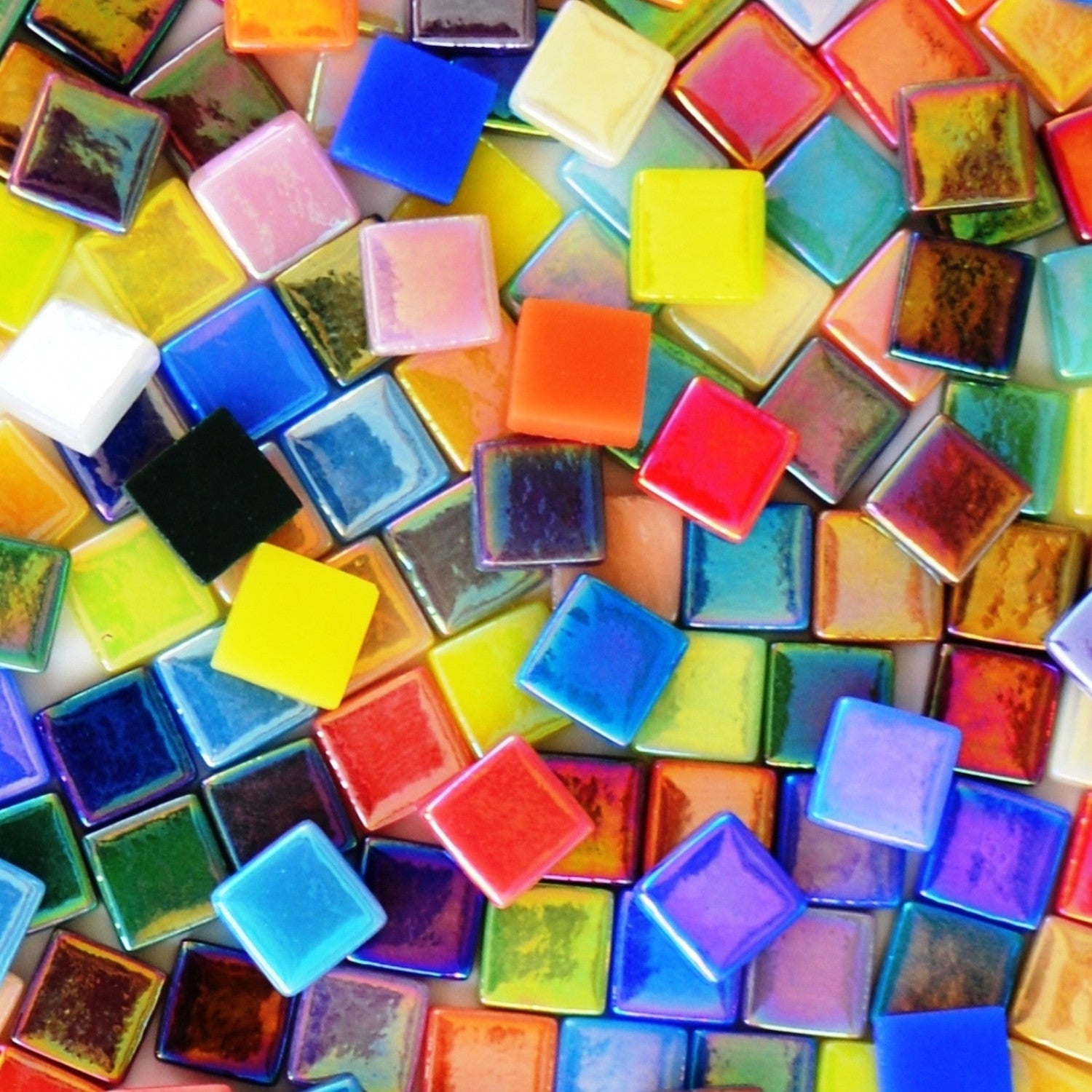 12mm - Assorted Colors - Iridescent, 12mm Assortments - Kismet Mosaic