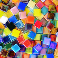 Assorted Colors - Iridescent, 12mm Assortments tile - Kismet Mosaic - mosaic supplies