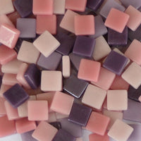 Assorted - Pinks & Purples - Gloss, 12mm Assortments tile - Kismet Mosaic - mosaic supplies