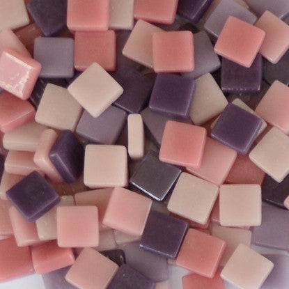 Assorted - Pinks & Purples - Matte, 12mm Assortments tile - Kismet Mosaic - mosaic supplies