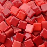 12mm - Reds - Gloss, 12mm Assortments - Kismet Mosaic