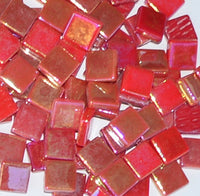 Assorted - Reds - Iridescent, 12mm Assortments tile - Kismet Mosaic - mosaic supplies
