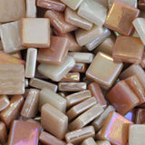 12mm - Tans - Iridescent, 12mm Assortments - Kismet Mosaic
