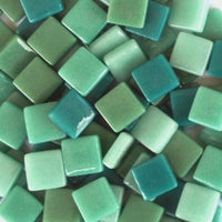 Assorted - Teals - Gloss, 12mm Assortments tile - Kismet Mosaic - mosaic supplies