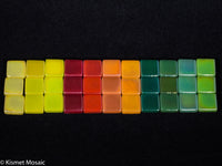 12mm - Iridescent, FallCollection tile - Kismet Mosaic - mosaic supplies