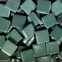187-g Dark Forest Green, 12mm - Greens & Teals tile - Kismet Mosaic - mosaic supplies