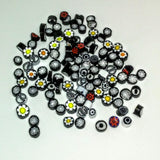 M15 - Black/White Mix (5-13mm), Millefiori tile - Kismet Mosaic - mosaic supplies
