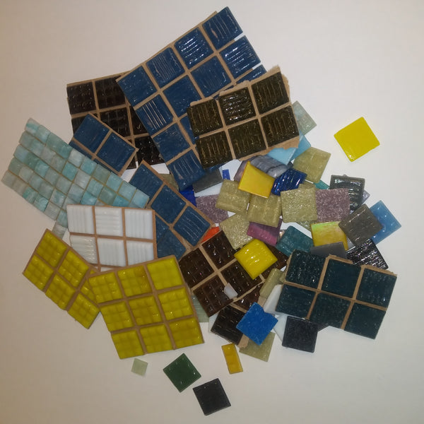 Grab Bag--Mixed Colors Vitreous Glass Tile