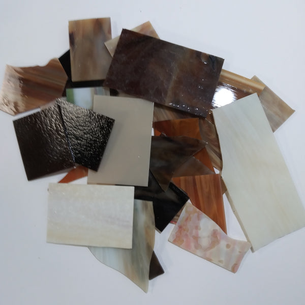 Grab Bag--Brown Stained Glass--Opaque