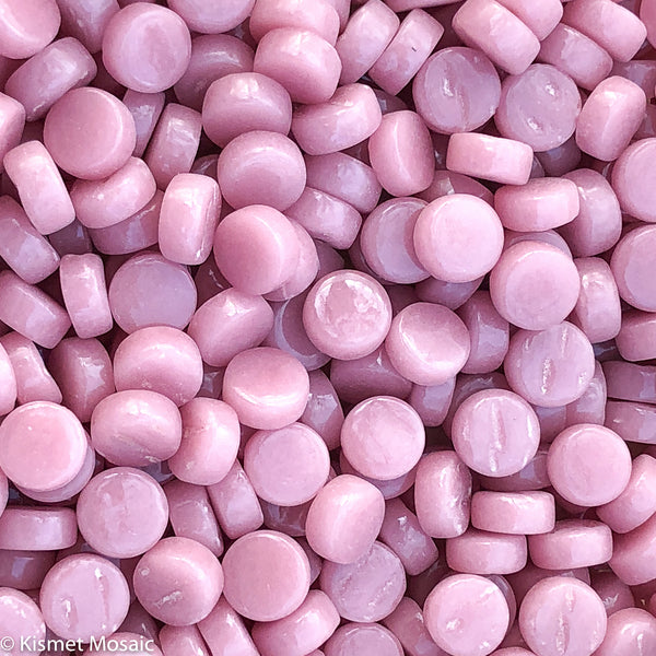 435-g Light Rose Mini Rounds, MiniRoundGloss tile - Kismet Mosaic - mosaic supplies