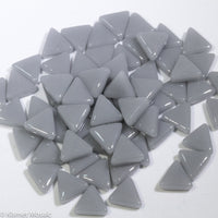 745-g - Graphite Triangle, TriangleGloss tile - Kismet Mosaic - mosaic supplies