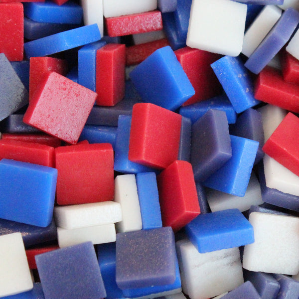 12mm - Matte, 4thJulyMix tile - Kismet Mosaic - mosaic supplies
