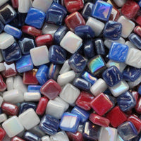 8mm - Iridescent, 4thJulyMix tile - Kismet Mosaic - mosaic supplies