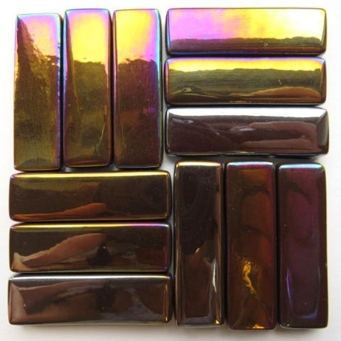 5100-i - Dark Chocolate Rectangles - Iridescent