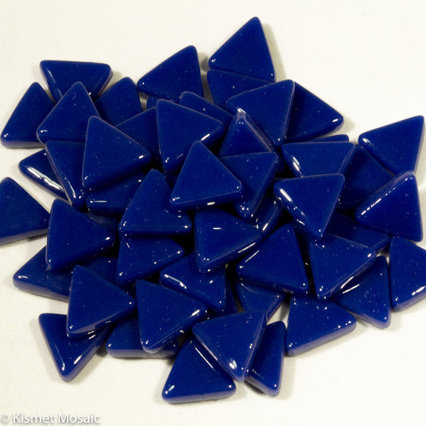 771-g - Indigo Blue Triangle, TriangleGloss tile - Kismet Mosaic - mosaic supplies