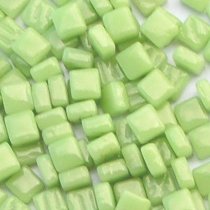 03-g Apple Green, 8mm - Greens & Teals tile - Kismet Mosaic - mosaic supplies