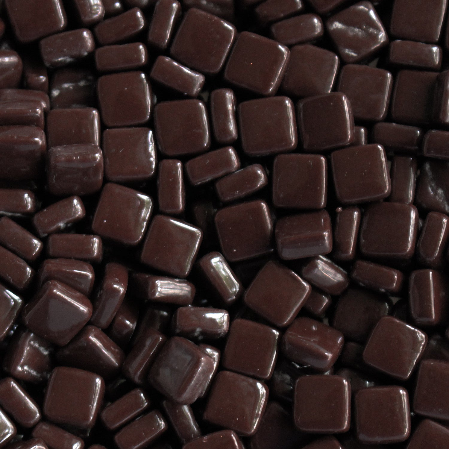 100-g Dark Chocolate, 8mm - Tans & Browns tile - Kismet Mosaic - mosaic supplies