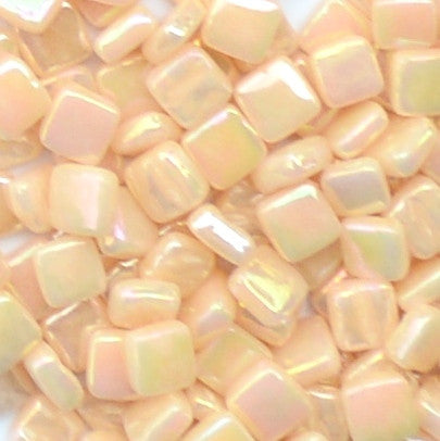 102-i Light Peach, 8mm - Oranges, Reds & Pinks tile - Kismet Mosaic - mosaic supplies