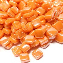 104-i Tangerine, 8mm - Oranges, Reds & Pinks tile - Kismet Mosaic - mosaic supplies