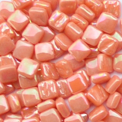 105-i Orange, 8mm - Oranges, Reds & Pinks tile - Kismet Mosaic - mosaic supplies