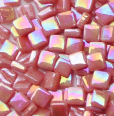 106-i Watermelon, 8mm - Oranges, Reds & Pinks tile - Kismet Mosaic - mosaic supplies