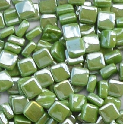 11-i Lime Green, 8mm - Greens & Teals tile - Kismet Mosaic - mosaic supplies