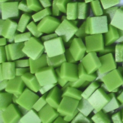 11-m Lime Green, 8mm - Greens & Teals tile - Kismet Mosaic - mosaic supplies