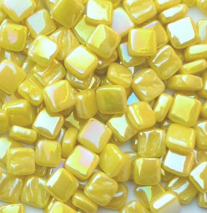 30-i Sweet Corn, 8mm - Yellows tile - Kismet Mosaic - mosaic supplies