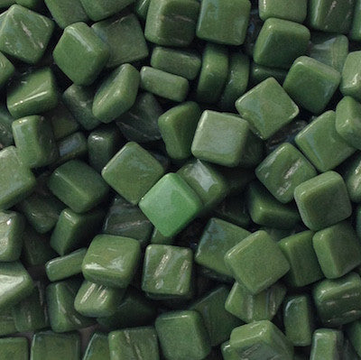 37-g Palmetto Green, 8mm - Greens & Teals tile - Kismet Mosaic - mosaic supplies