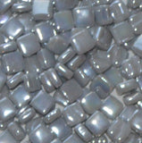 45i - Graphite - Iridescent8mm - White, Gray & Black - Kismet Mosaic