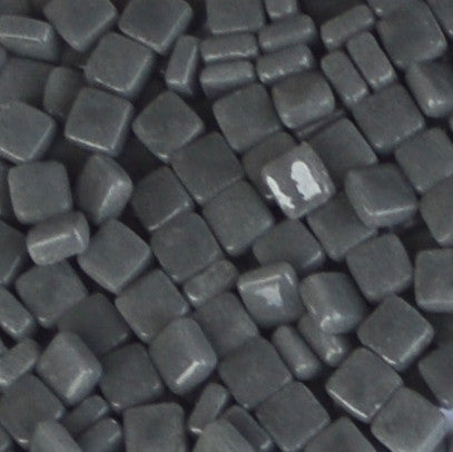 48-g - Charcoal, 8mm - White, Gray & Black tile - Kismet Mosaic - mosaic supplies
