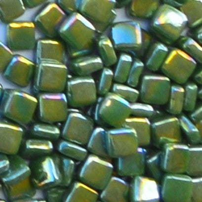 55-i Grass Green, 8mm - Greens & Teals tile - Kismet Mosaic - mosaic supplies