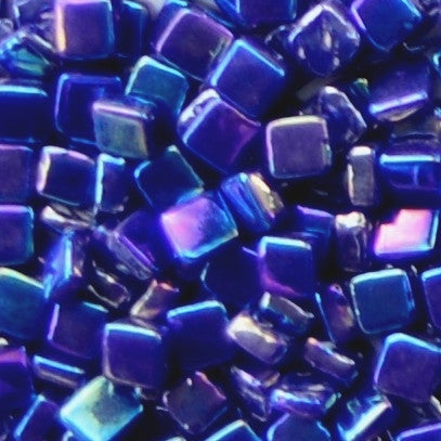 71-i Indigo Blue, 8mm - Blues & Purples tile - Kismet Mosaic - mosaic supplies
