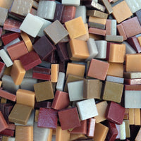 Assorted - Browns - Matte, 12mm Assortments tile - Kismet Mosaic - mosaic supplies