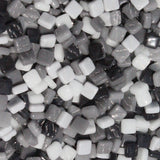 8mm - Black, Whites, Grays - Gloss8mm Assortments - Kismet Mosaic