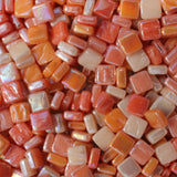 8mm - Corals & Oranges - Iridescent8mm Assortments - Kismet Mosaic