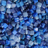 Assorted - Dark Blues - Iridescent, 8mm Assortments tile - Kismet Mosaic - mosaic supplies