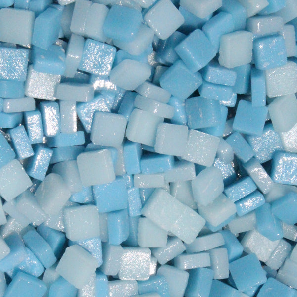 Assorted - Light Blues - Matte, 8mm Assortments tile - Kismet Mosaic - mosaic supplies