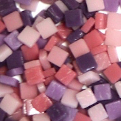 Assorted - Pinks & Purples - Matte, 8mm Assortments tile - Kismet Mosaic - mosaic supplies