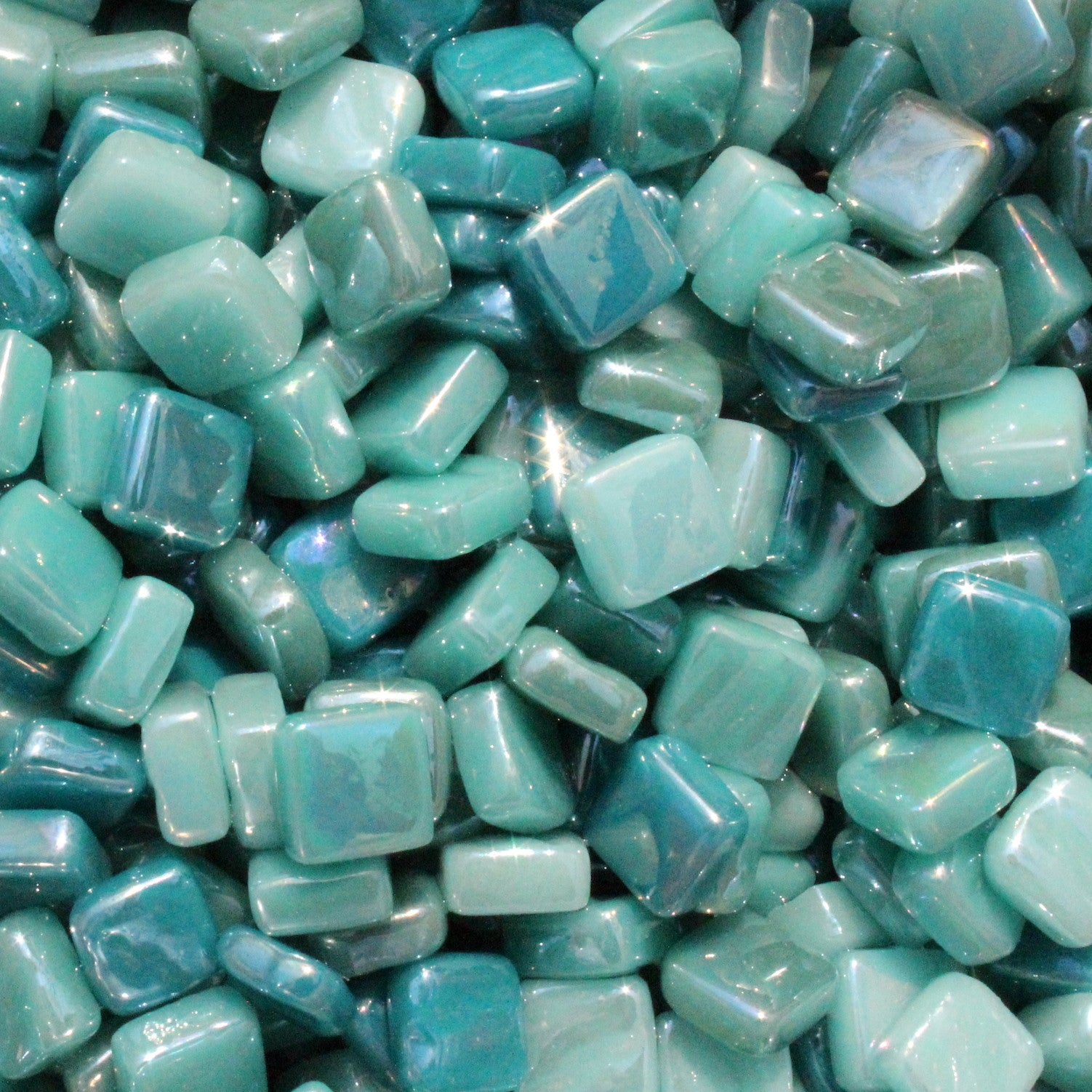 8mm - Teals - Iridescent8mm Assortments - Kismet Mosaic