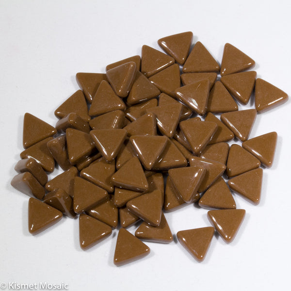 799-g - Amaretto Triangle, TriangleGloss tile - Kismet Mosaic - mosaic supplies
