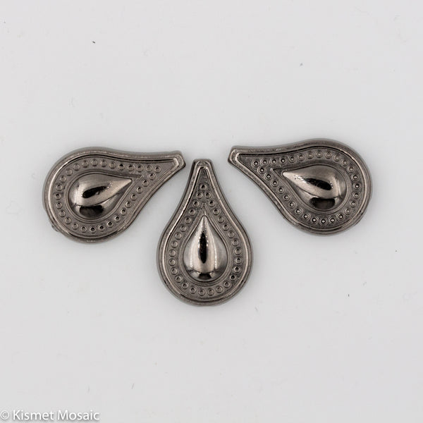 BD140 - Gunmetal Teardrop, Beads tile - Kismet Mosaic - mosaic supplies