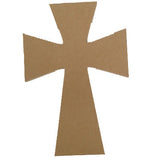 "Cross (Design 1) - 9.5"", MDFShape tile - Kismet Mosaic - mosaic supplies"