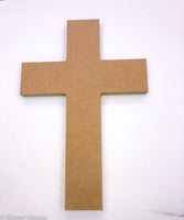 "Cross (Design 4) - 6"", MDFShape tile - Kismet Mosaic - mosaic supplies"