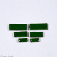 c-Forest Green Rectangles, CeramicRectangles tile - Kismet Mosaic - mosaic supplies