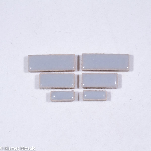 c-Gray Rectangles, CeramicRectangles tile - Kismet Mosaic - mosaic supplies